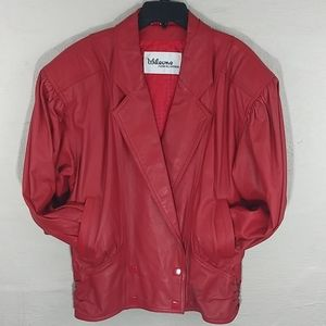 Wilsons Leather Vintage Red 100% Leather Jacket